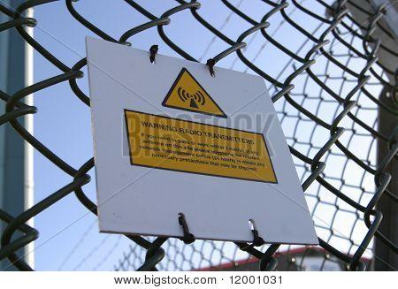 Sign, Warning Radio Transmitters