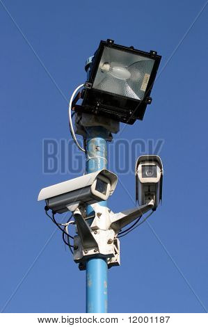 Security light & camera.