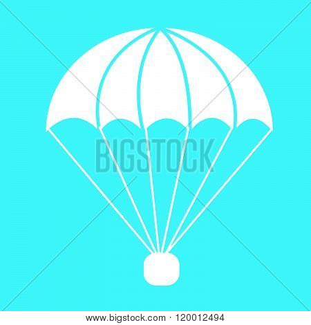 an images of parachute icon Illustration symbol design