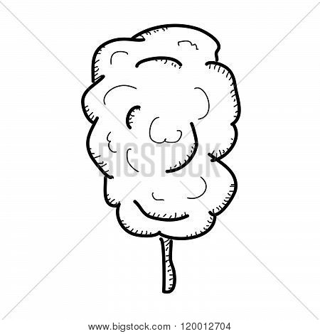 Simple Doodle Of A Stick Of Candy Floss