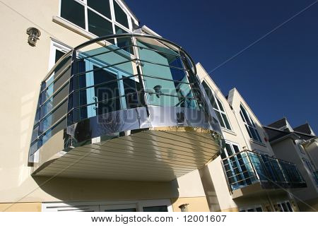Chromed Balcony on New House