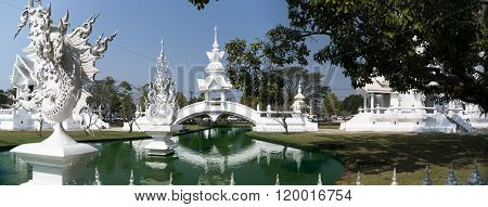 White Bridge Panorama, Chiang Rai Thailand