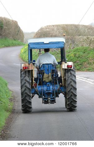 Tractor on Country Lane