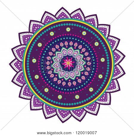 Flower pattern mandala