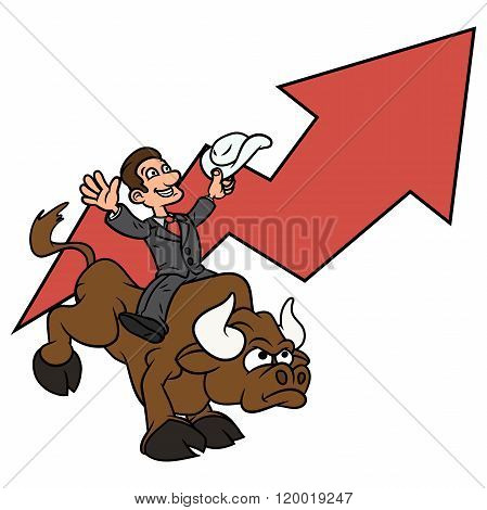Businessman is riding bull 3