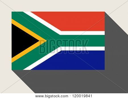 South Africa flag in flat web design style.