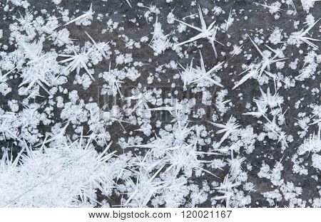 Spiky Winter Snow Ice Crystals