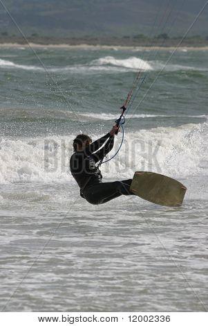 Kite Surfer at speed