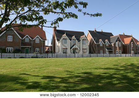 Houses Bordering Village Green