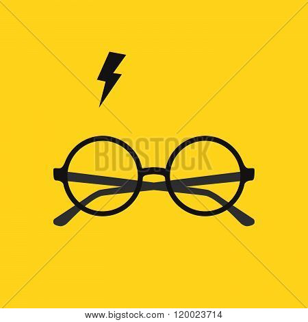 Round Glasses And Lighting
