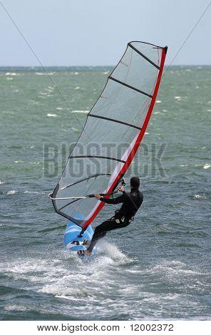 Windsurfer at speed