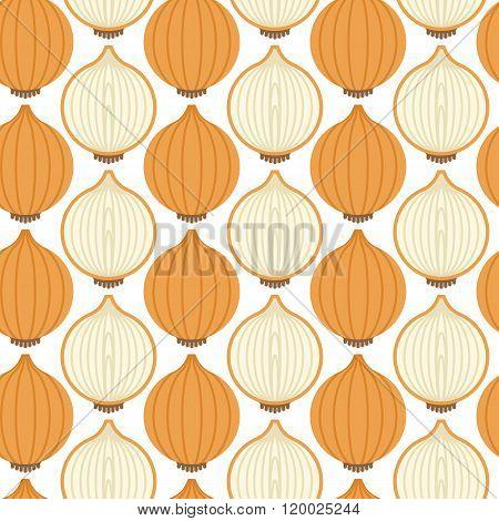 Seamless pattern with whole onion