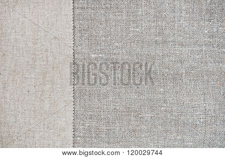Vintage Background With Rude Fabric On Burlap Cloth