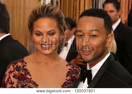 LOS ANGELES - FEB 28:  Chrissy Teigen, John Legend at the 88th Annual Academy Awards - Arrivals at the Dolby Theater on February 28, 2016 in Los Angeles, CA