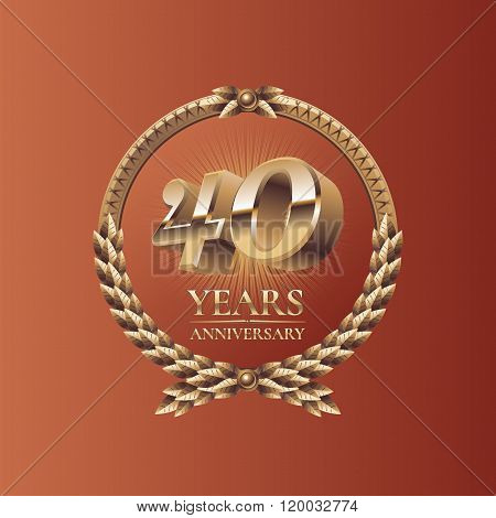 Forty years anniversary celebration vector design