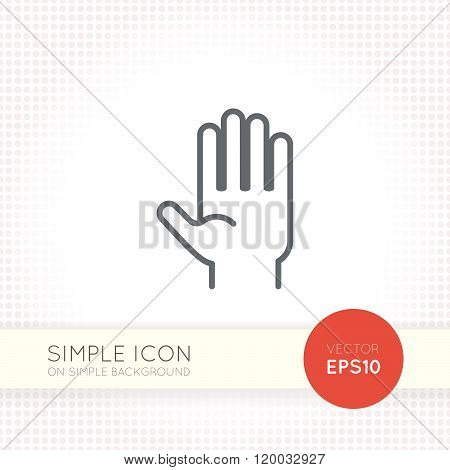 Thin line design vector universal palm icon. Elements for user interface.