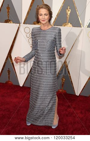 LOS ANGELES - FEB 28:  Charlotte Rampling at the 88th Annual Academy Awards - Arrivals at the Dolby Theater on February 28, 2016 in Los Angeles, CA