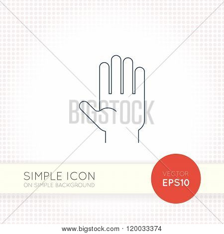 Extra thin line design vector universal palm icon. Elements for user interface.