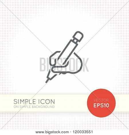 Thin line design vector universal pencil icon. Elements for user interface.