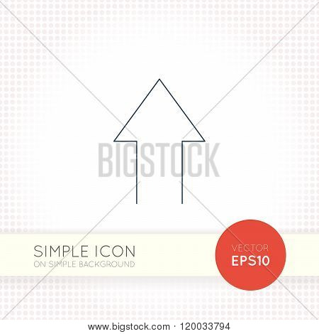 Extra thin line design vector universal arrow icon. Elements for user interface.
