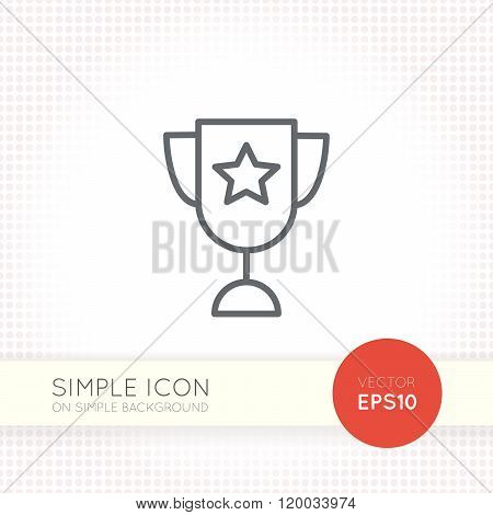Thin line design vector universal goblet icon. Elements for user interface.