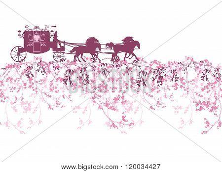 Spring Carriage Border