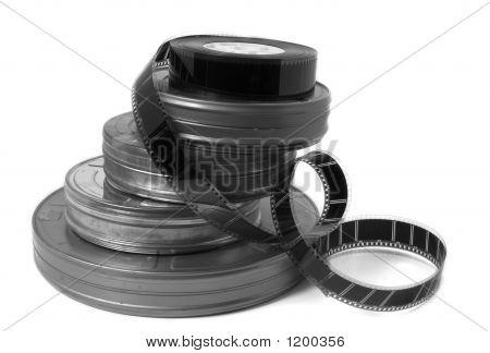 Movie Film Dosen und Trailer (schwarz und weiß)