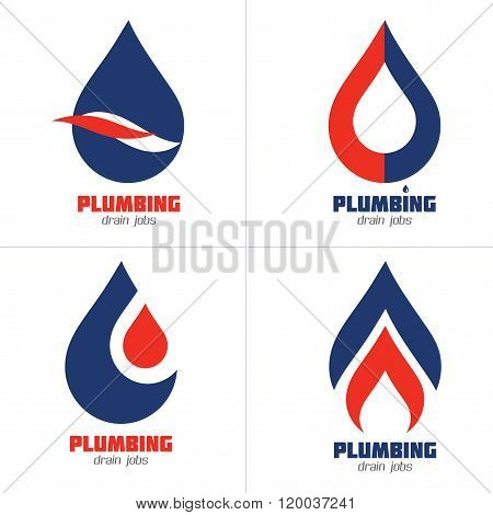 Plumbing, Gas and Water Supply Service Sign Set