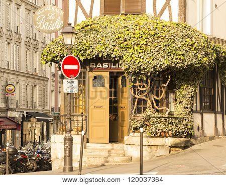 The Restaurant Basilic, Paris, France.