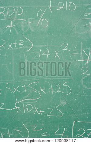 Formula written on a blackboard