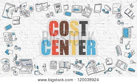 Cost Center in Multicolor. Doodle Design.