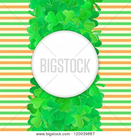Patricks Day Green Clover Frame Cartoon 4
