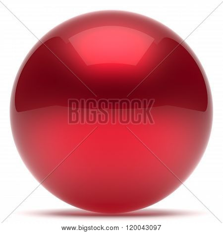 Sphere ball geometric shape button round basic circle solid figure simple minimalistic element single red drop shiny glossy sparkling object blank balloon