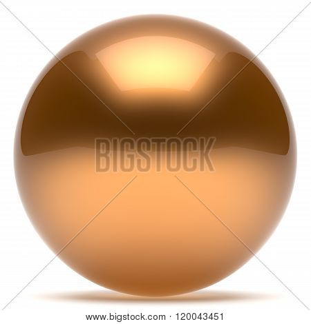 Sphere ball geometric shape button round basic circle solid figure simple minimalistic element single gold golden yellow shiny glossy sparkling object blank balloon