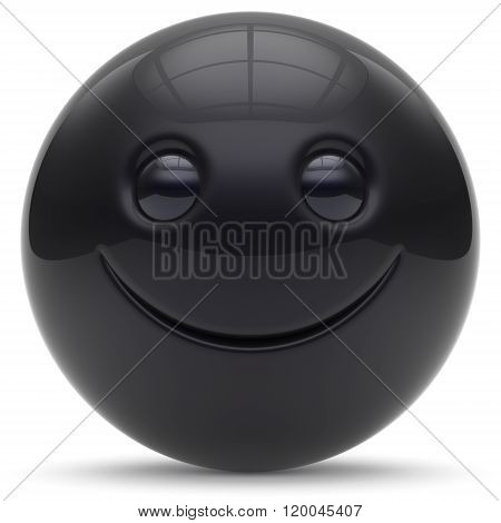 Smiley face head ball cheerful sphere emoticon cartoon smiling happy decoration cute red. Smile funny joyful person laughing character
