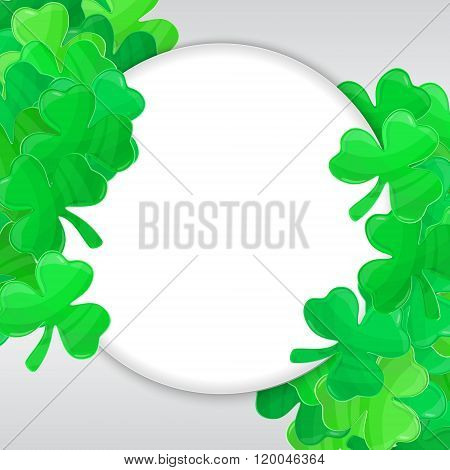 Patricks Day Green Clover Frame Cartoon White 4