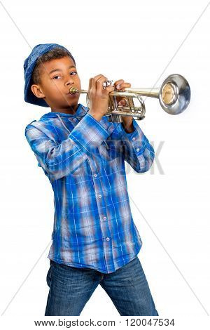 Young trumpet player.