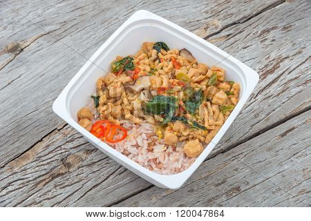 Ready To Eat Rice Box Vegetarian Food For Lunch