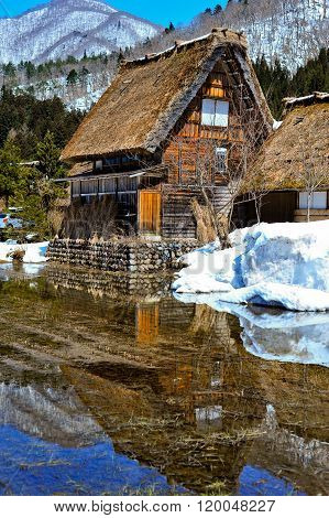 Cottage At Gassho-zukuri Village/shirakawago, Japan..