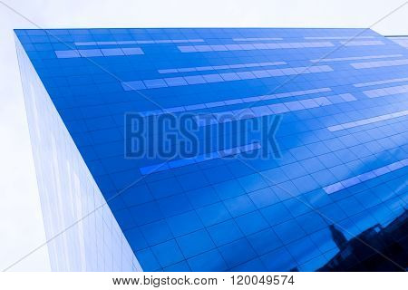 Glass Facade Reflect The Sky..