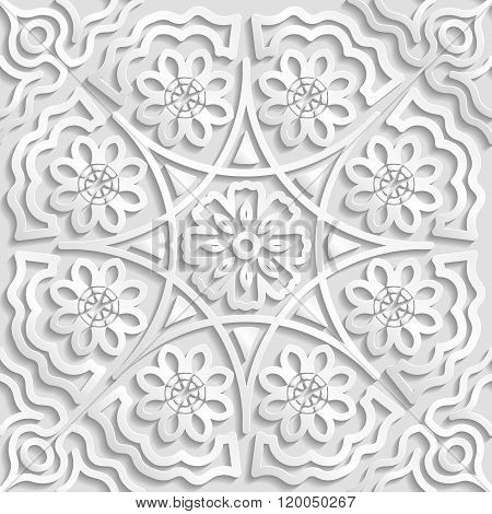 Seamless arabic geometric pattern floral ornament indian ornament persian motif vector. Endless text