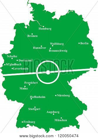 Map of Bundesliga