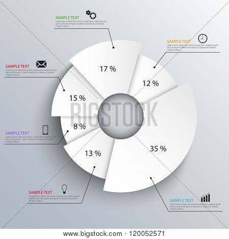 Abstract White Info Graphic Design Template