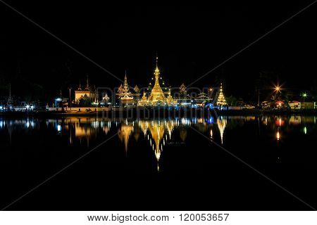 Wat Jong Klang And Wat Jong Kham At Night
