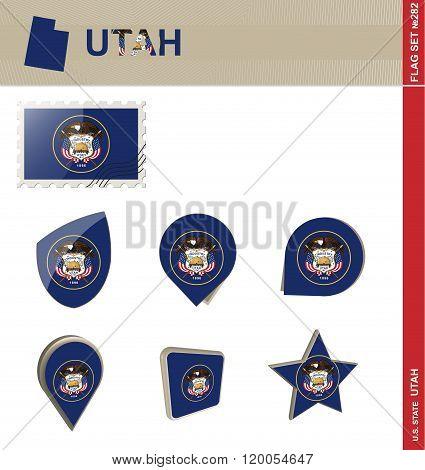 Utah Flag Set, Flag Set #282