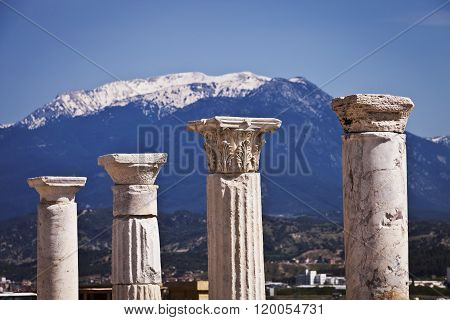 Columns At Laodicea In Turkey