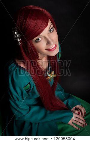 Beautiful Redhead Girl.
