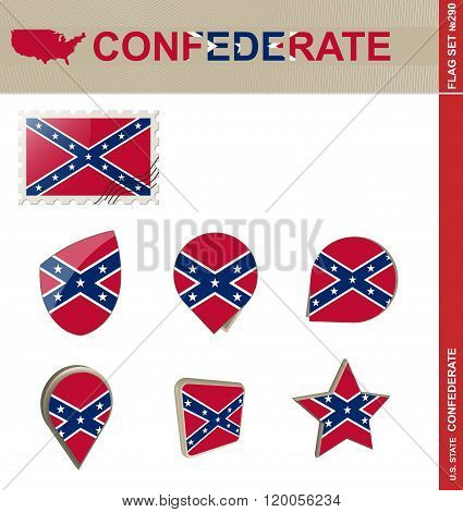 Confederate Flag Set, Flag Set #290