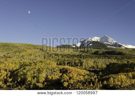 Autumn Moon Over Chair Mountain and McClure Pass