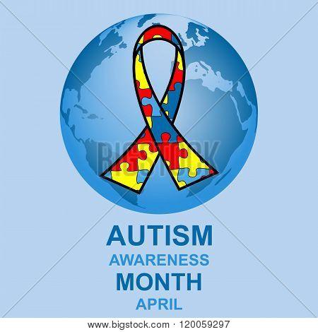 Autism awareness month design